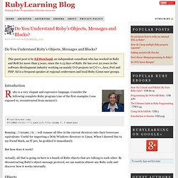 Do You Understand Ruby's Objects, Messages and Blocks?