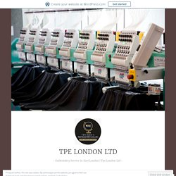 Understand Custom Printing and Embroidery Stitches – TPE LONDON LTD