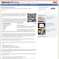 QR Codes - Understand the User Profile and Best Practices