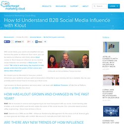 How to Understand B2B Social Media Influence with Klout