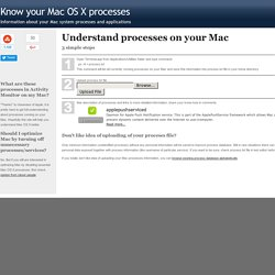 Understand Mac OS X processes on your Mac : by triviaware