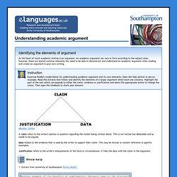 Understanding academic argument