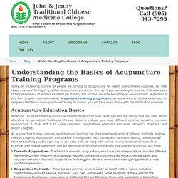 Understanding the Basics of Acupuncture Training Programs