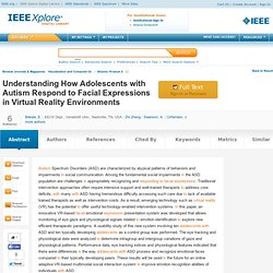 Understanding How Adolescents with Autism Respond to Facial Expressions in Virtual Reality Environme...