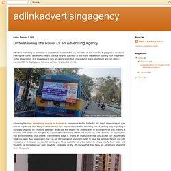 adlinkadvertisingagency: Understanding The Power Of An Advertising Agency