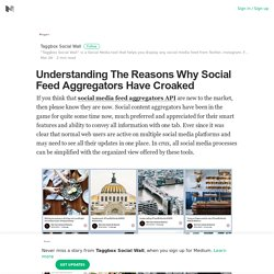 Understanding The Reasons Why Social Feed Aggregators Have Croaked