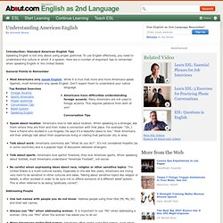 Understanding American English Usage for ESL EFL English Students and ...