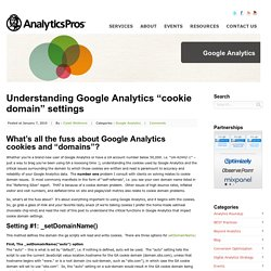 "Understanding Google Analytics ""cookie domain"" settings"