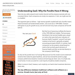 Understanding SaaS: Why the Pundits Have It Wrong