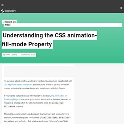 Understanding the CSS animation-fill-mode Property