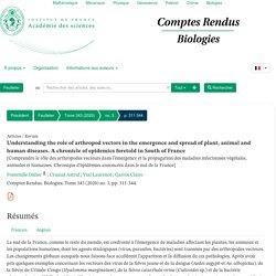 ACADEMIE DES SCIENCES - 2020 - Comptes rendus biologiques. Au sommaire notamment: Le malheur est dans le pré : cicadelles et (ré)émergence de la bactérie phytopathogène Xylella fastidiosa