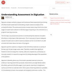 Understanding Assessment In Digication – Digication Help Desk