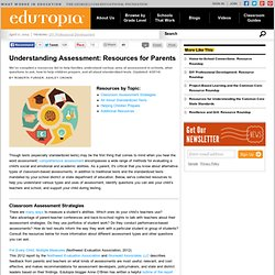 Understanding Assessment: Resources for Parents