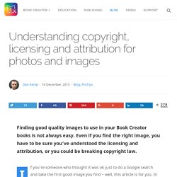 Understanding copyright, licensing and attribution for photos and images - Book Creator app