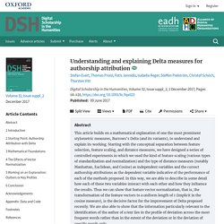 Understanding and explaining Delta measures for authorship attribution
