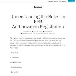 What is EPR Authorization?