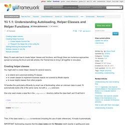 Understanding Autoloading, Helper Classes and Helper Functions