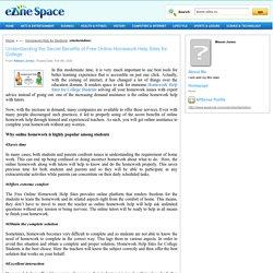 Free Online Homework Help Sites