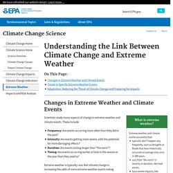 Understanding the Link Between Climate Change and Extreme Weather