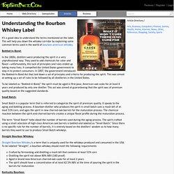 Understanding the Bourbon Whiskey Label