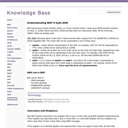 Understanding BGP 4-byte ASN - Knowledge Base