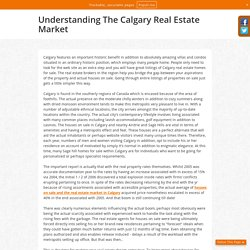 Understanding The Calgary Real Estate Market