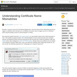 Understanding Certificate Name Mismatches