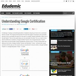 Understanding Google Certification