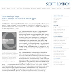 Understanding Change - A Paper by Scott London