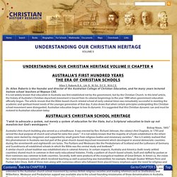 UNDERSTANDING OUR CHRISTIAN HERITAGE Volume 2
