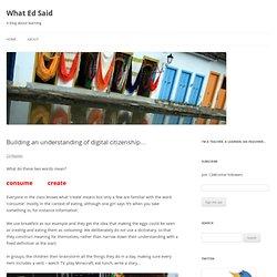 Building an understanding of digital citizenship