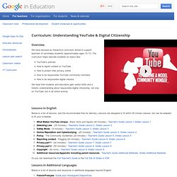 Curriculum: Understanding YouTube & Digital Citizenship – Google in Education