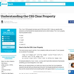 Understanding the CSS Clear Property