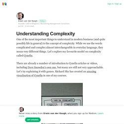 Understanding Complexity – Erwin van der Koogh – Medium