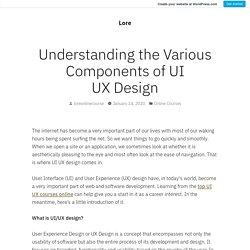 Understanding the Various Components of UI UX Design – Lore