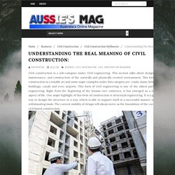 Services Performed by Civil Construction Industry