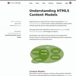 Understanding HTML5 Content Models