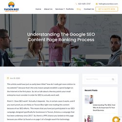 Understanding The Google SEO Content Page Ranking Process