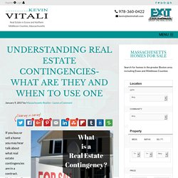 An Explanation Of Real Estate Contingencies