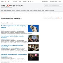 Understanding Research News, Research and Analysis - The Conversation