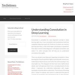 Understanding Convolution in Deep Learning