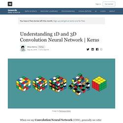 Understanding 1D and 3D Convolution Neural Network