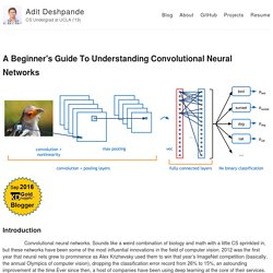 A Beginner's Guide To Understanding Convolutional Neural Networks – Adit Deshpande – CS Undergrad at UCLA ('19)