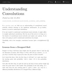 Understanding Convolutions