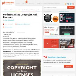 Understanding Copyright And Licenses - Smashing Magazine