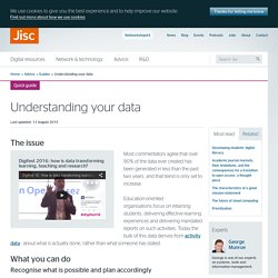 Understanding your data