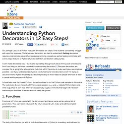 Understanding Python Decorators in 12 Easy Steps!