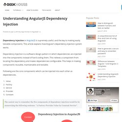 Understanding AngularJS Dependency Injection – GeekHours