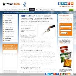 Understanding Developmental Needs - Team Management Skills from MindTools.com