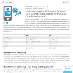Understanding the Difference Between Remote Patient Monitoring and Chronic Care Management